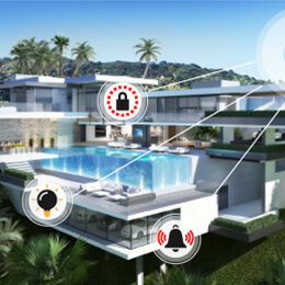 This is an image of a dream house with smart home technology.
